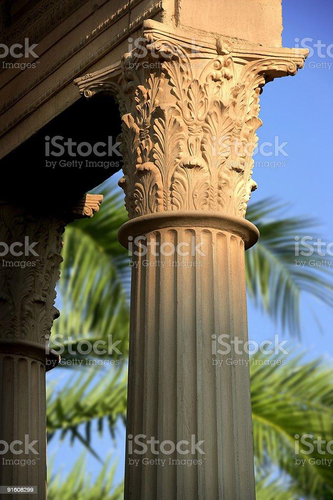 column detail stock photo