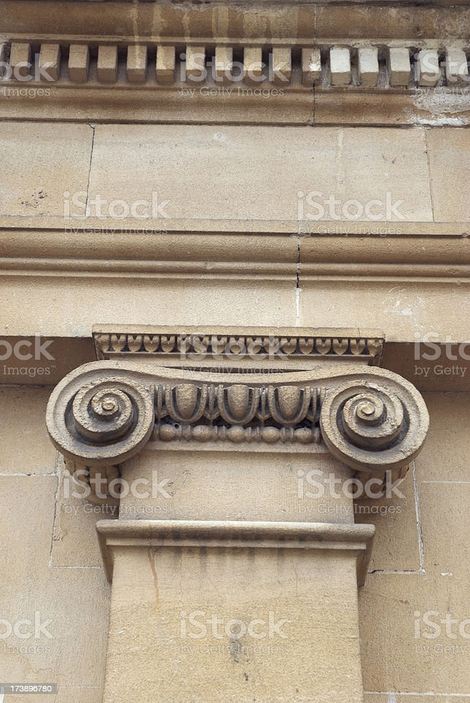 Column Detail - vertical royalty-free stock photo