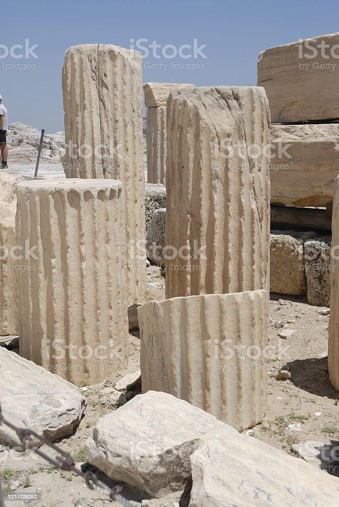 Column fragments royalty-free stock photo