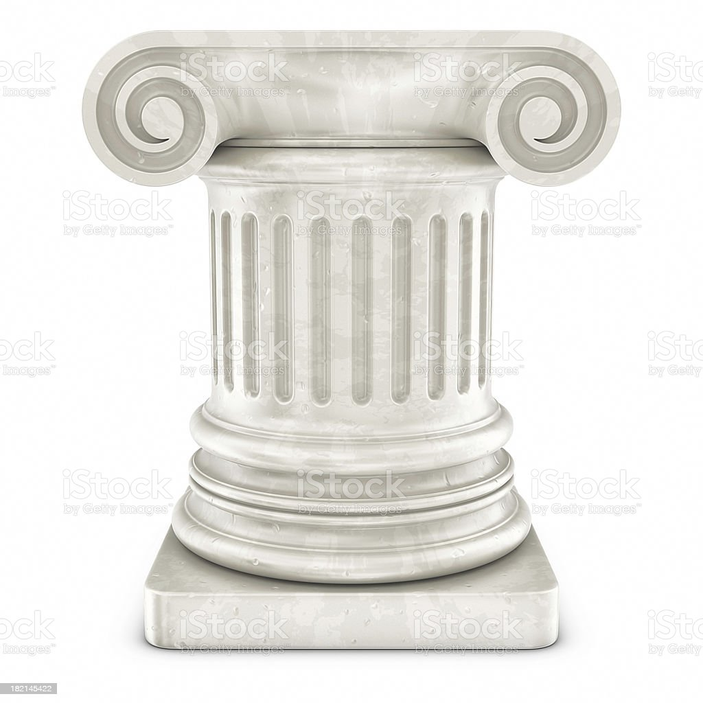column icon stock photo