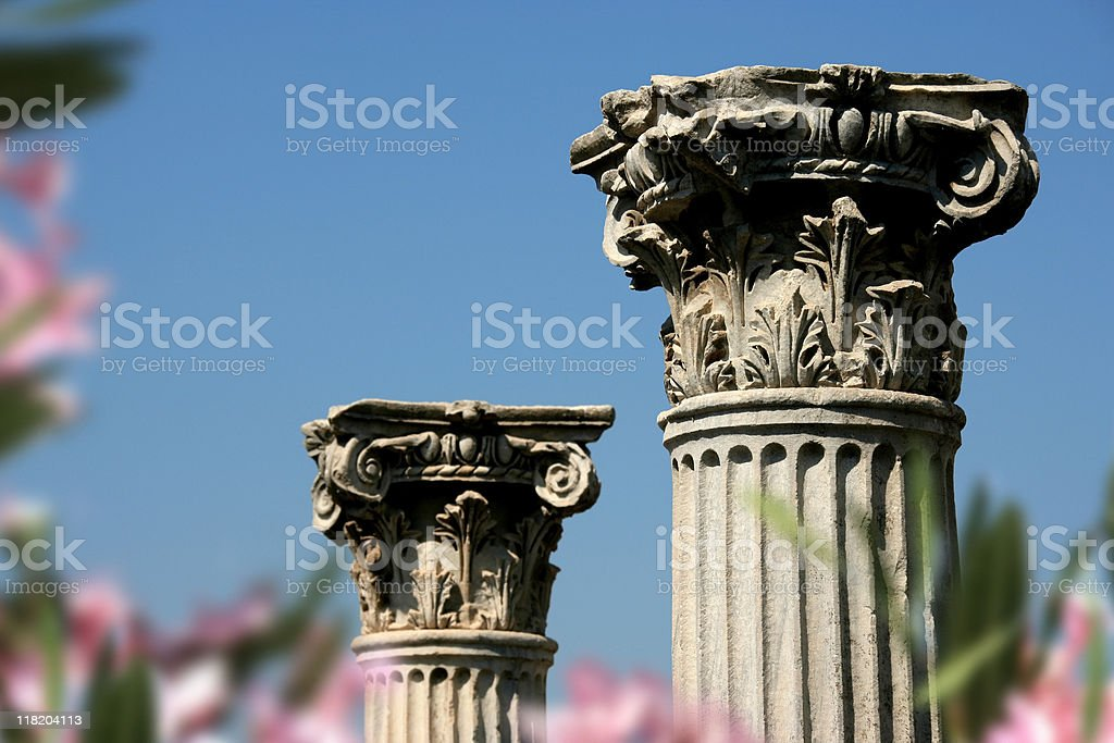column in Ephesus stock photo