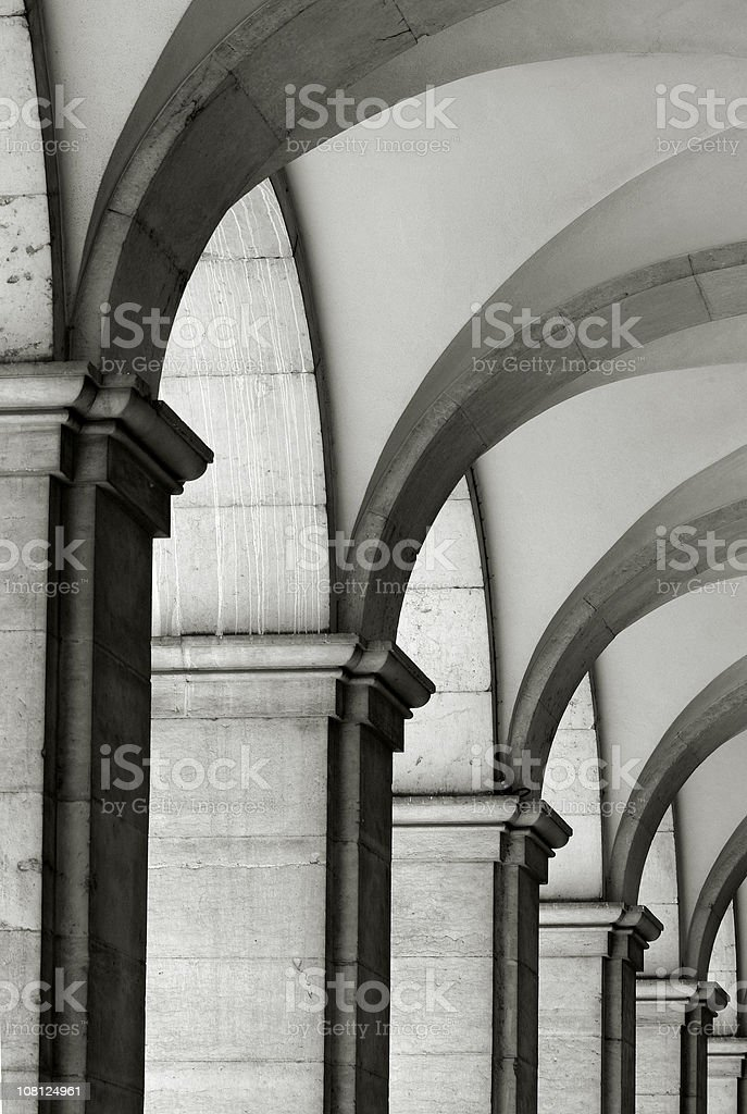 column in old building royalty-free stock photo