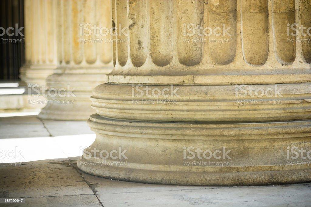 Column in Propyläen at Königsplatz, Munich, Germany royalty-free stock photo