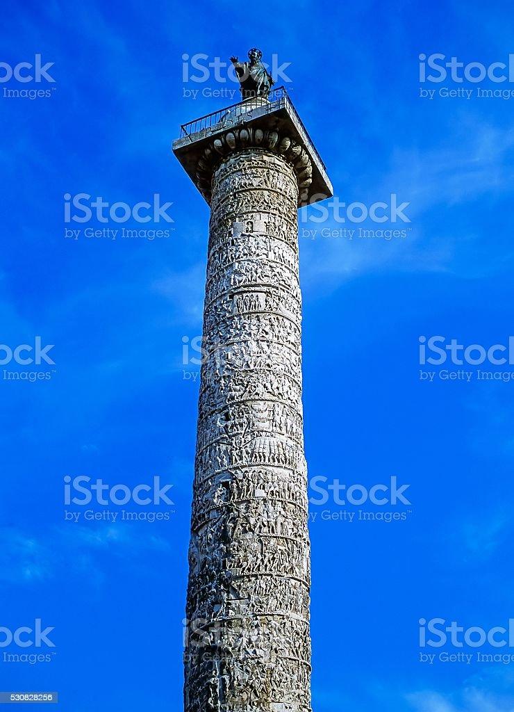 Column of Marcus Aurelius stock photo