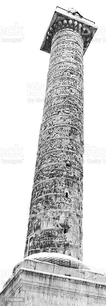 Column of Marcus Aurelius, Rome (ITaly). stock photo