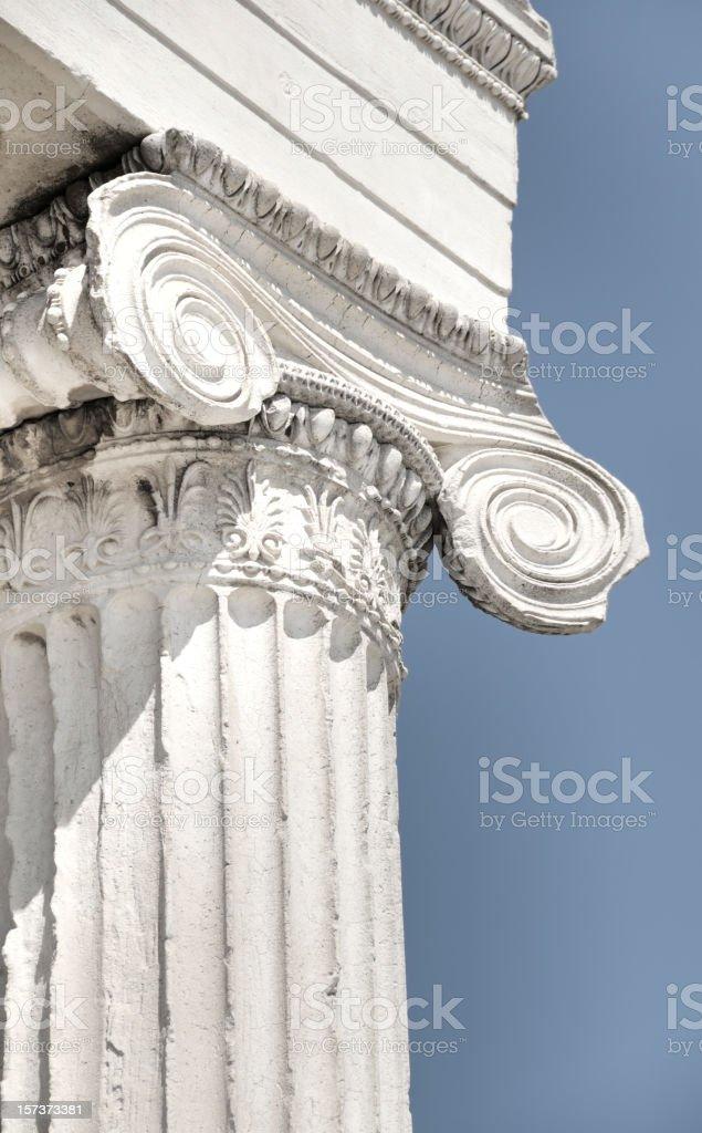 Column of Parthenon in Acropolis, Athens, Greece royalty-free stock photo
