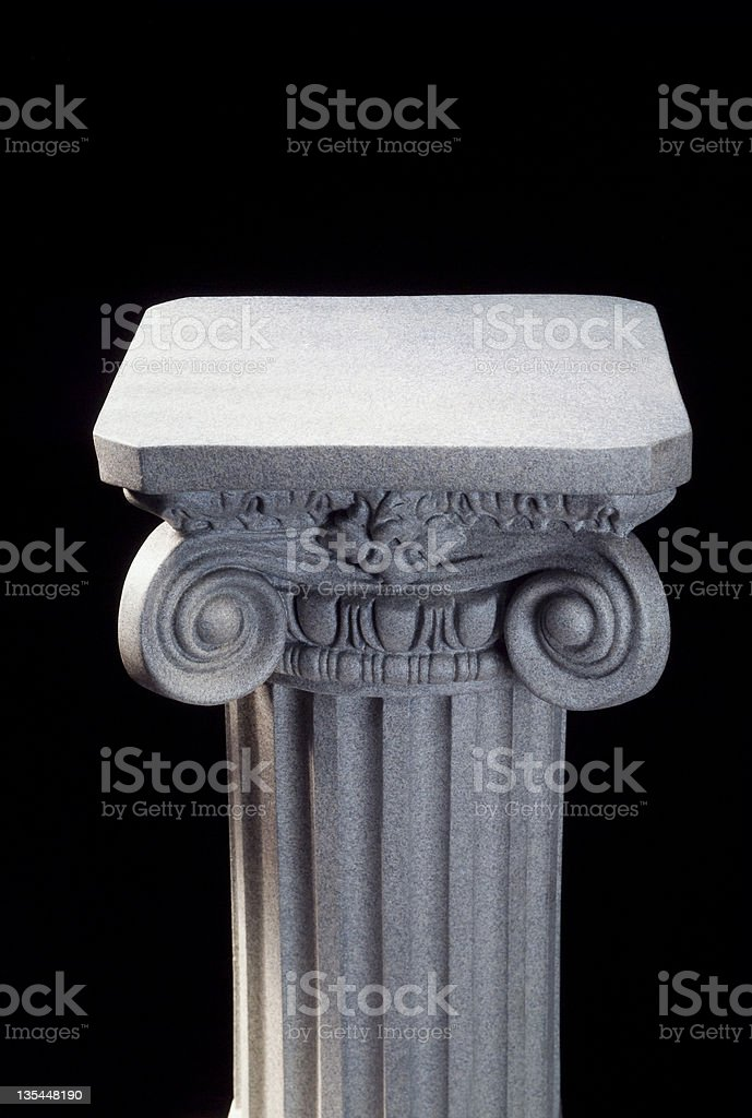 Column on Black stock photo