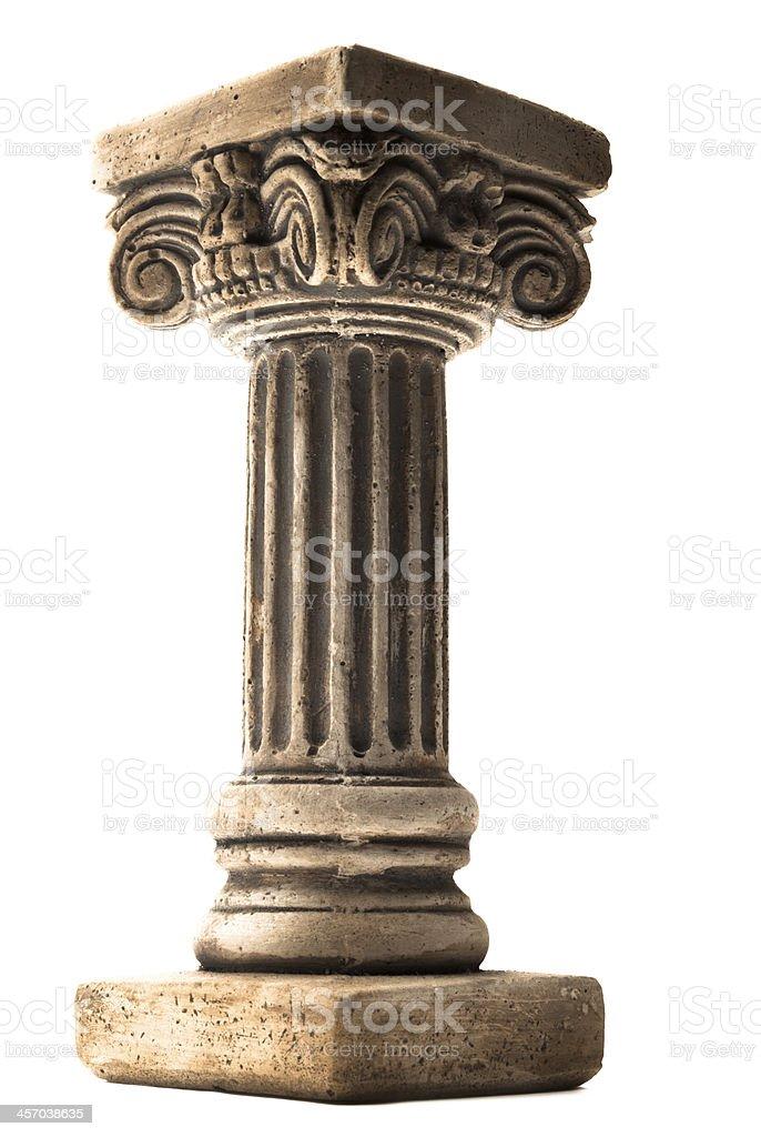 Column on white background stock photo