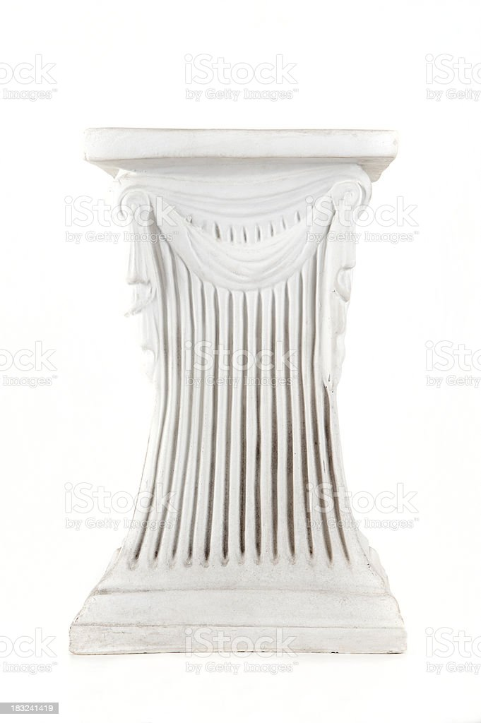 Column on white royalty-free stock photo