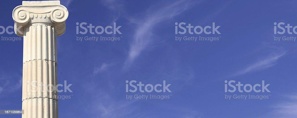 Column panorama stock photo