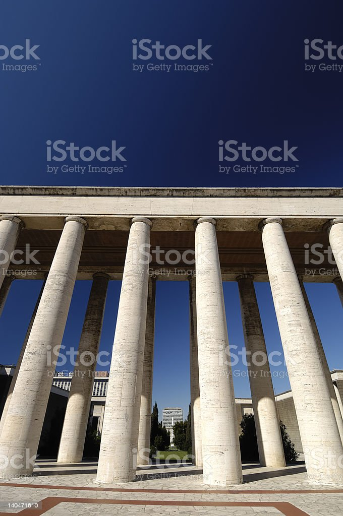 column perspective royalty-free stock photo