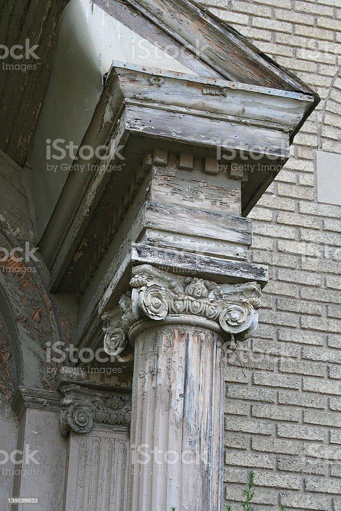 Column Roof stock photo