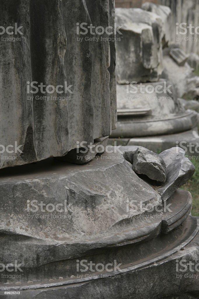 column ruins stock photo