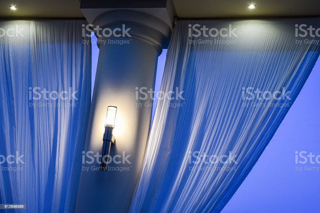 Column with drapes stock photo