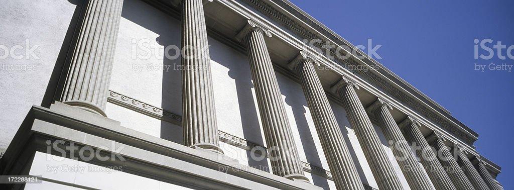 Columnar Facade royalty-free stock photo