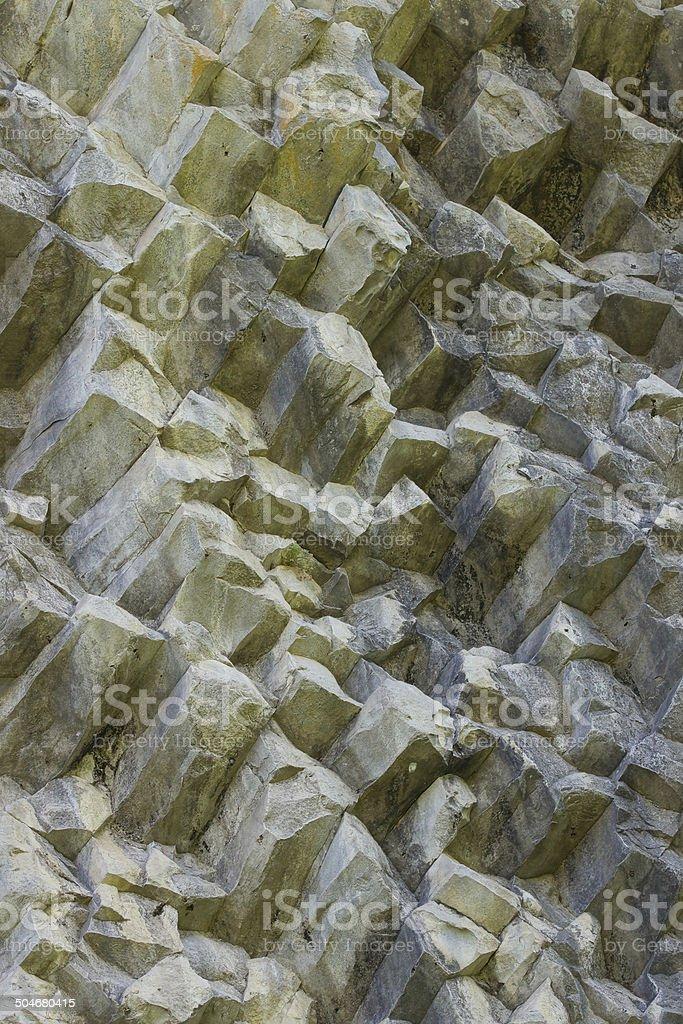 Columnar jointed basalt - Panama stock photo