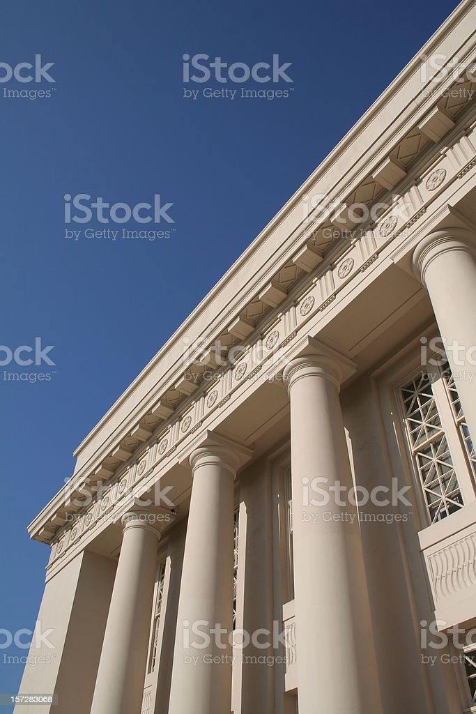 Columned Building - vertical royalty-free stock photo