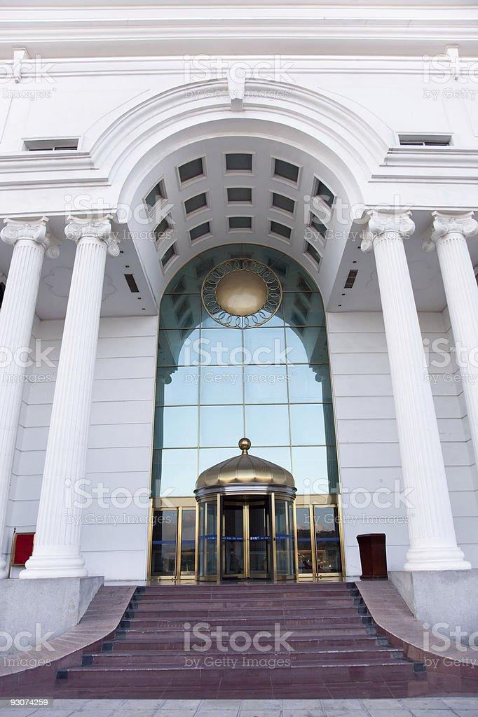 Columns and ceiling royalty-free stock photo