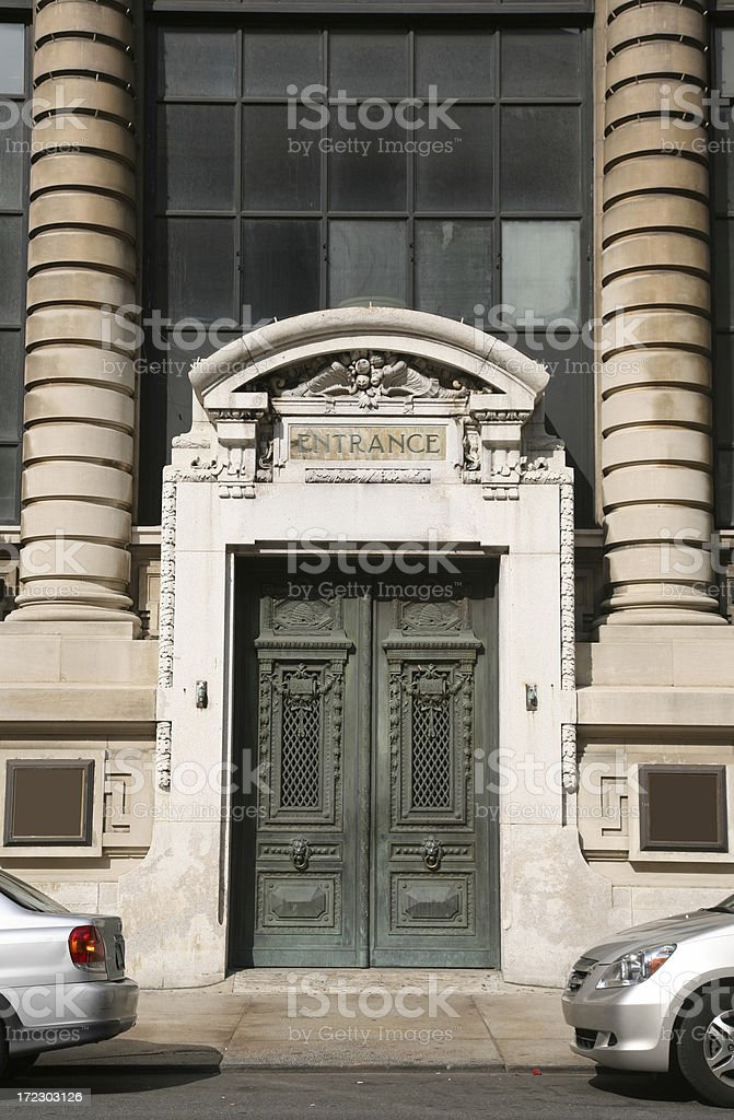 Columns And Doorway On Street royalty-free stock photo