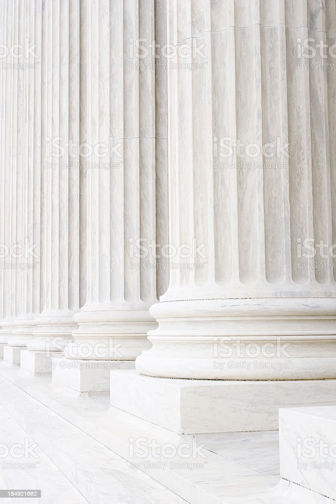 Columns and pillars stock photo