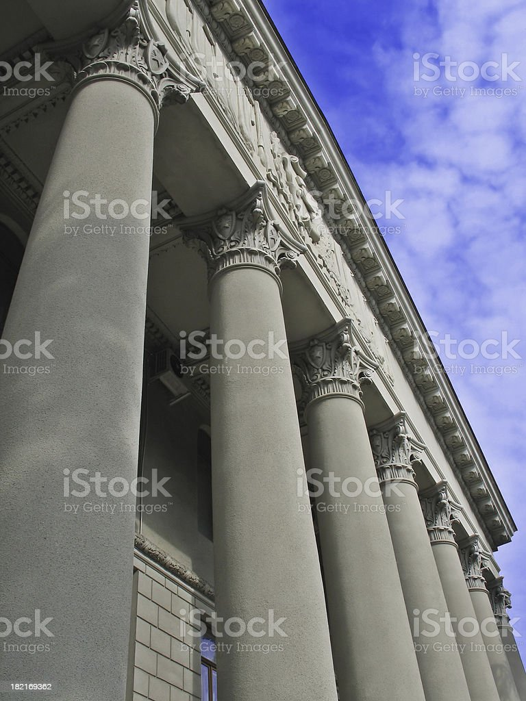 Columns and the Sky royalty-free stock photo