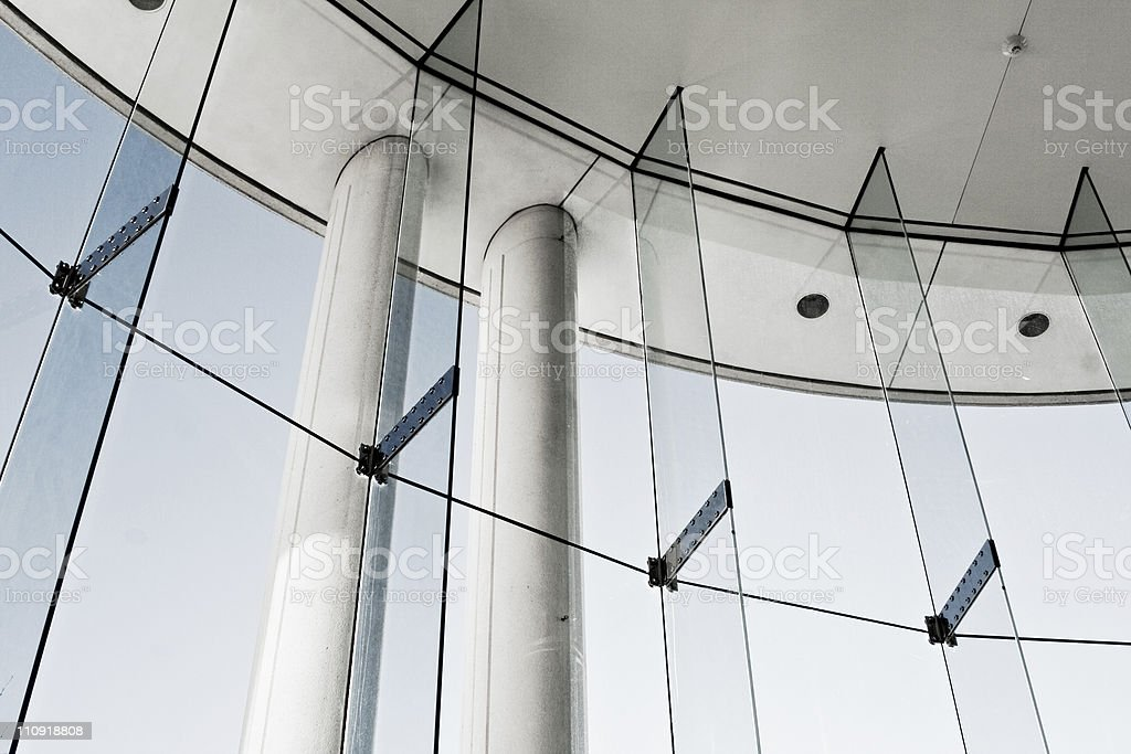 Columns and window royalty-free stock photo