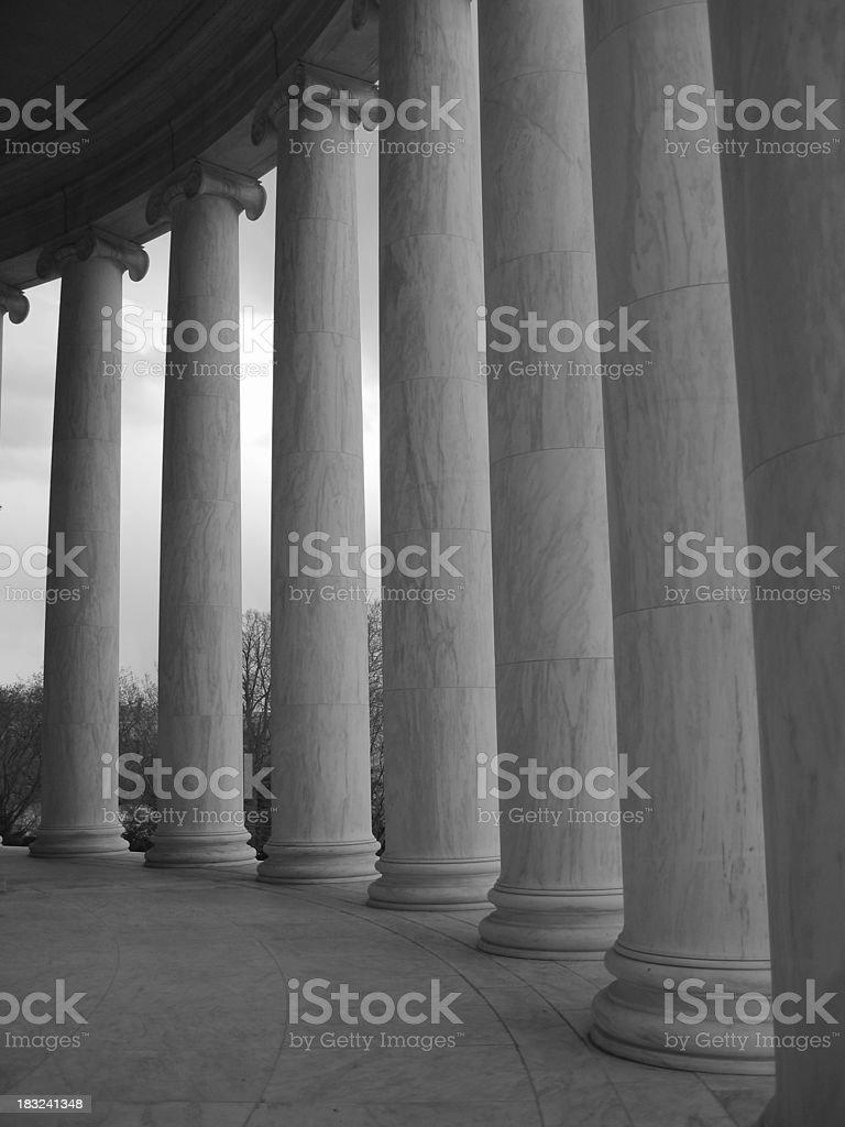 Columns at Jefferson Memorial royalty-free stock photo