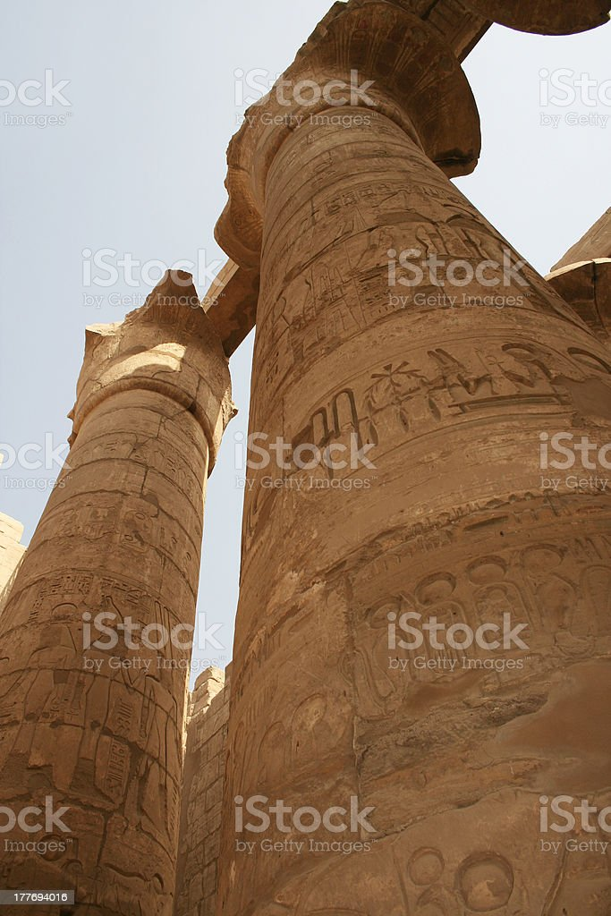 Columns at Karnak Temple royalty-free stock photo