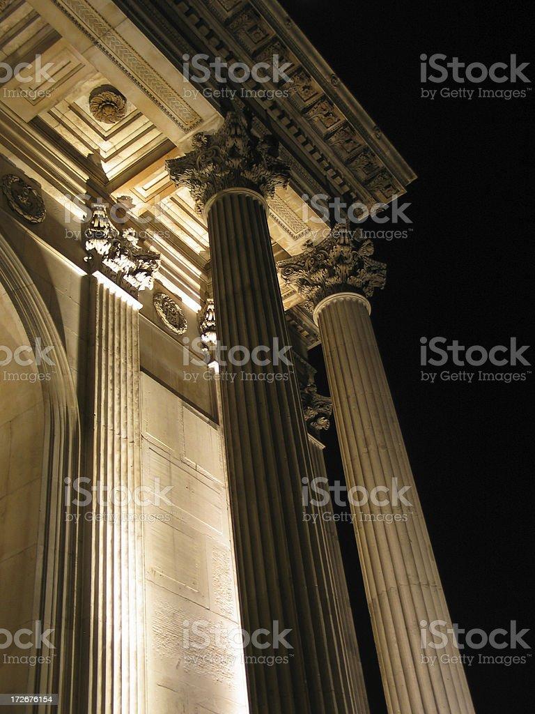 Columns at Night royalty-free stock photo
