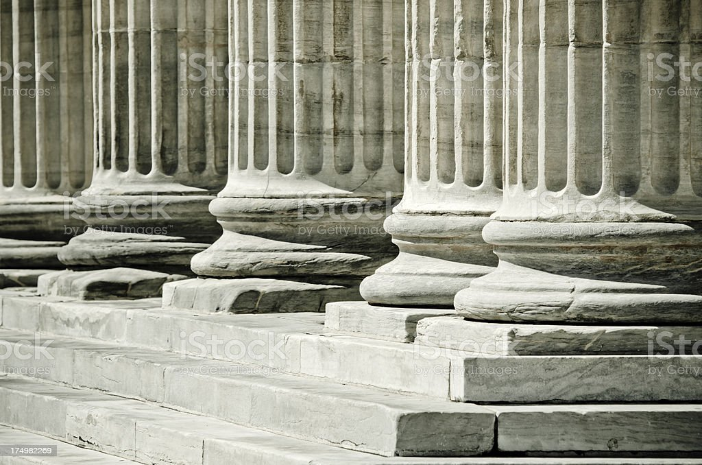 Columns at Second Bank of the United States in Philadelphia royalty-free stock photo