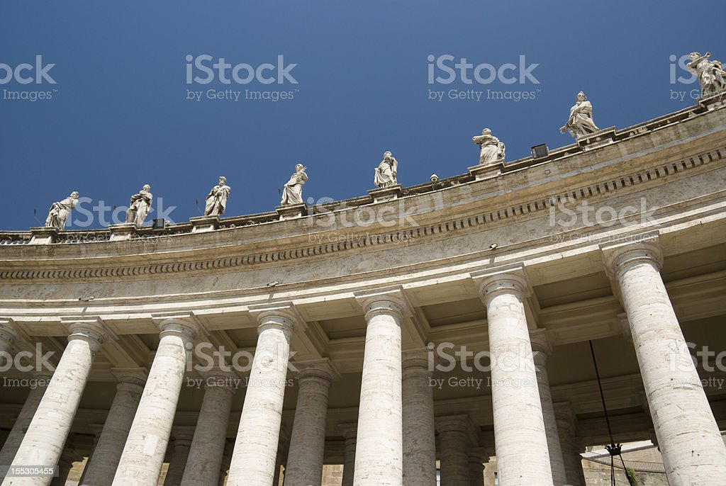 Columns at St Peters square horizontal stock photo