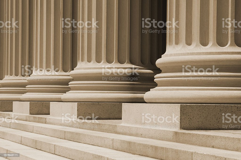 Columns At The Courthouse stock photo