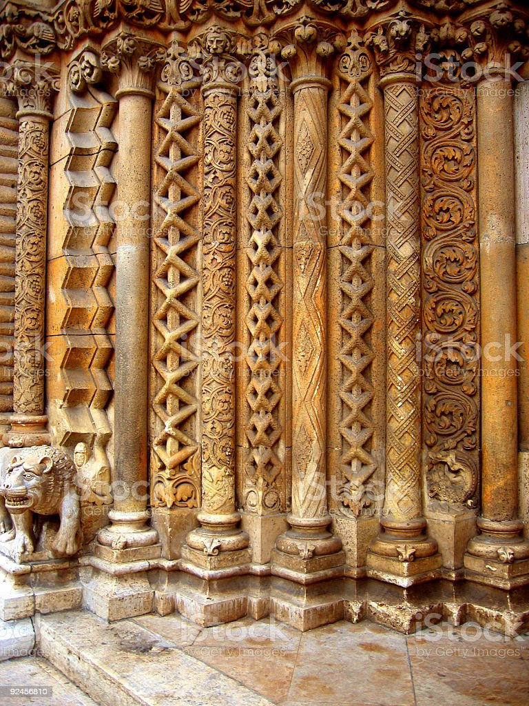 Columns at the entrance royalty-free stock photo