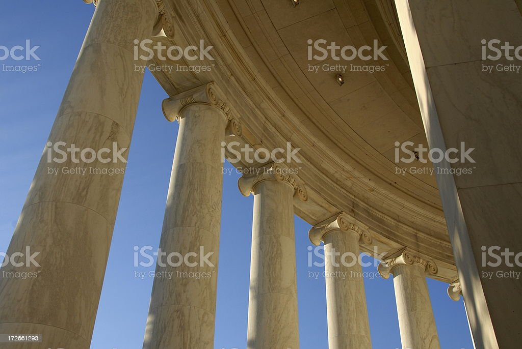 Columns at the Jefferson Memorial royalty-free stock photo