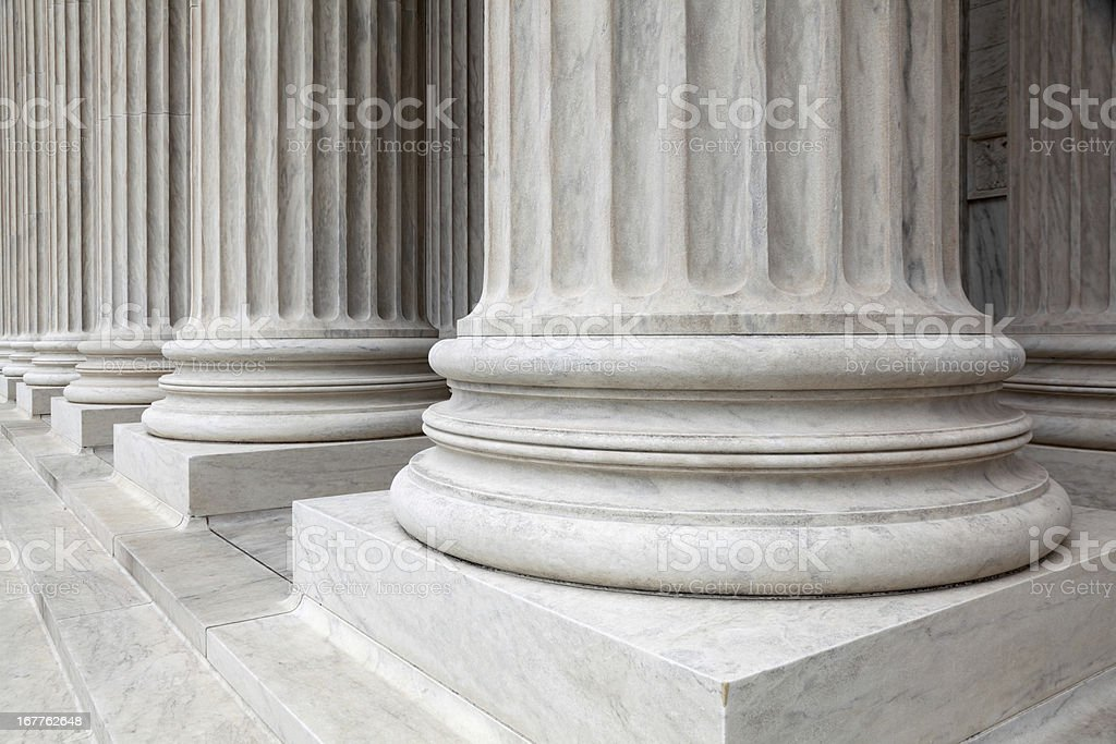 Columns at the U.S. Supreme Court royalty-free stock photo
