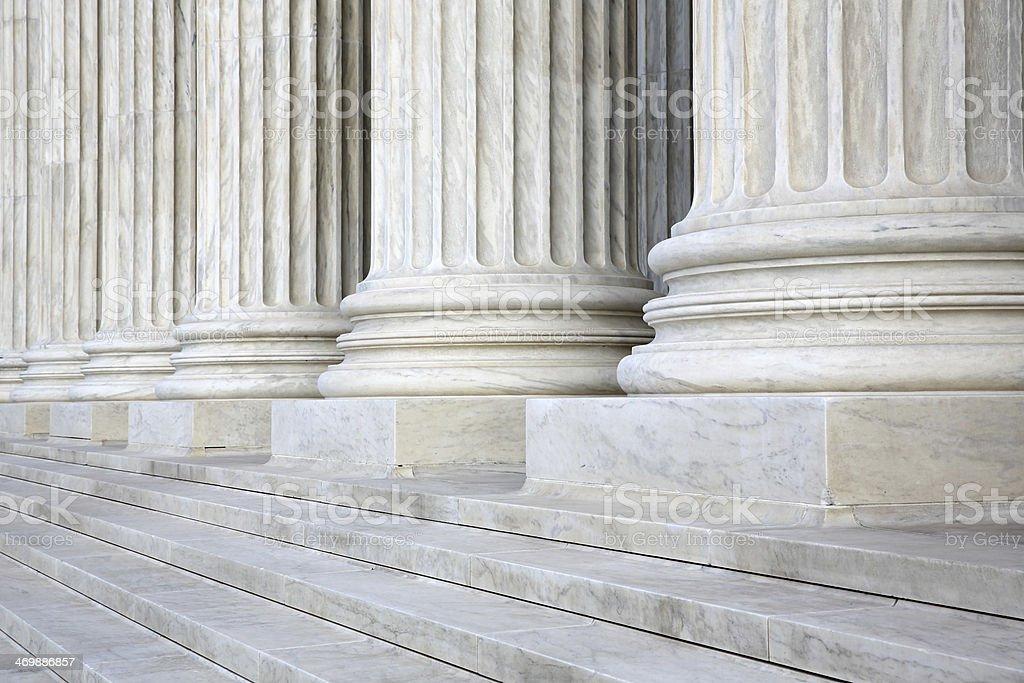 Columns at the U.S. Supreme Court stock photo