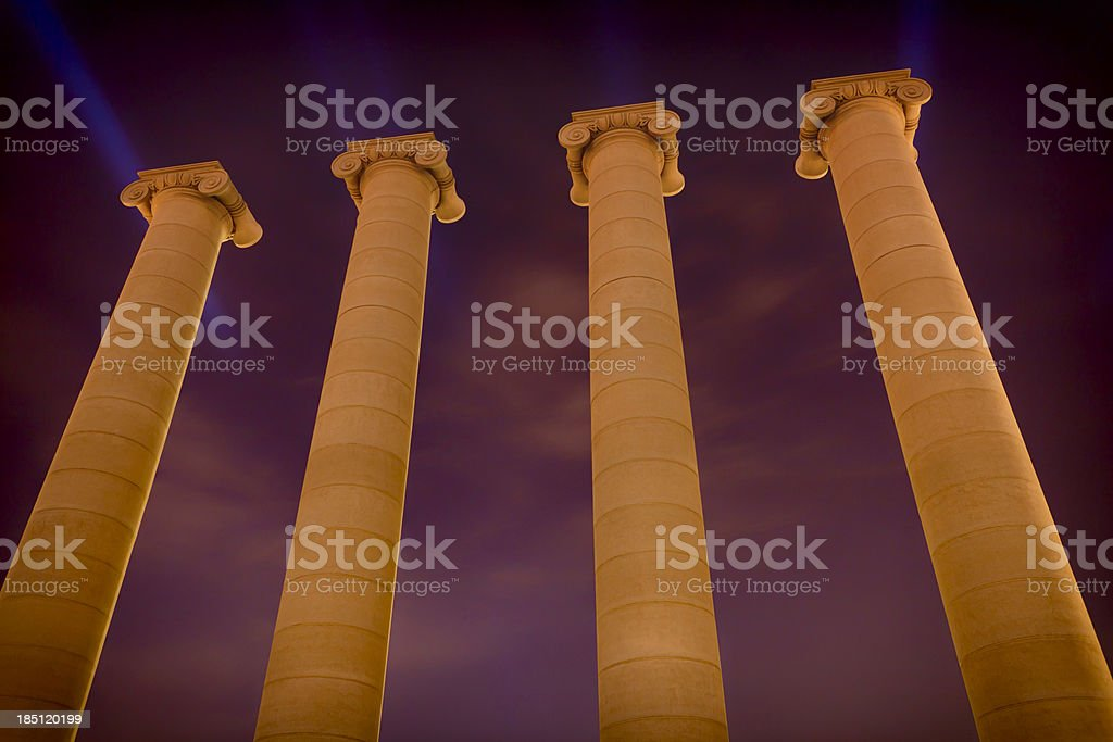 Columns by night royalty-free stock photo