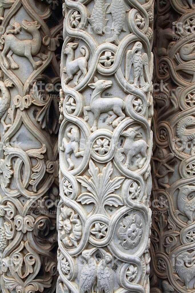 Columns close-up royalty-free stock photo