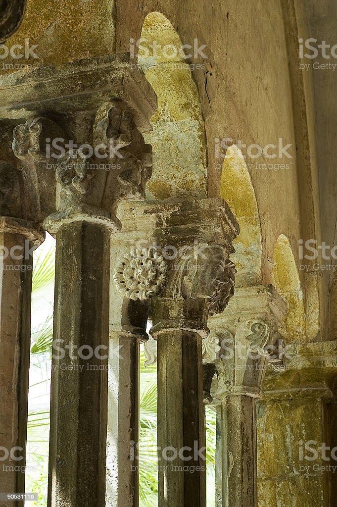 columns ,Franciscan monasatery royalty-free stock photo