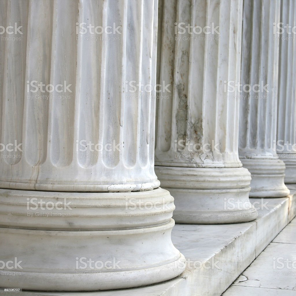 Columns in a row (squared) royalty-free stock photo