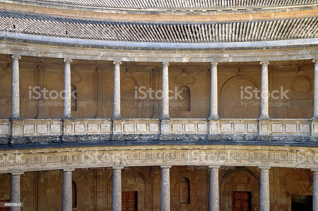Columns in Alhambra, Granada, Spain royalty-free stock photo