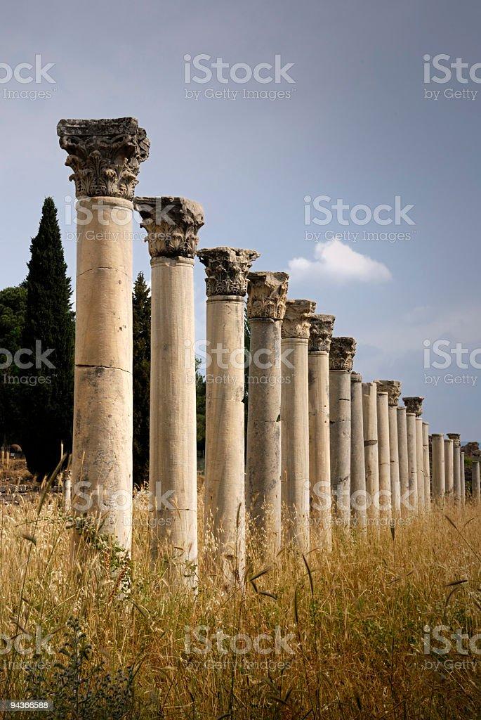 Columns in Ephesus, Turkey royalty-free stock photo