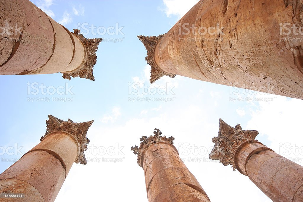 Columns in Jerash royalty-free stock photo