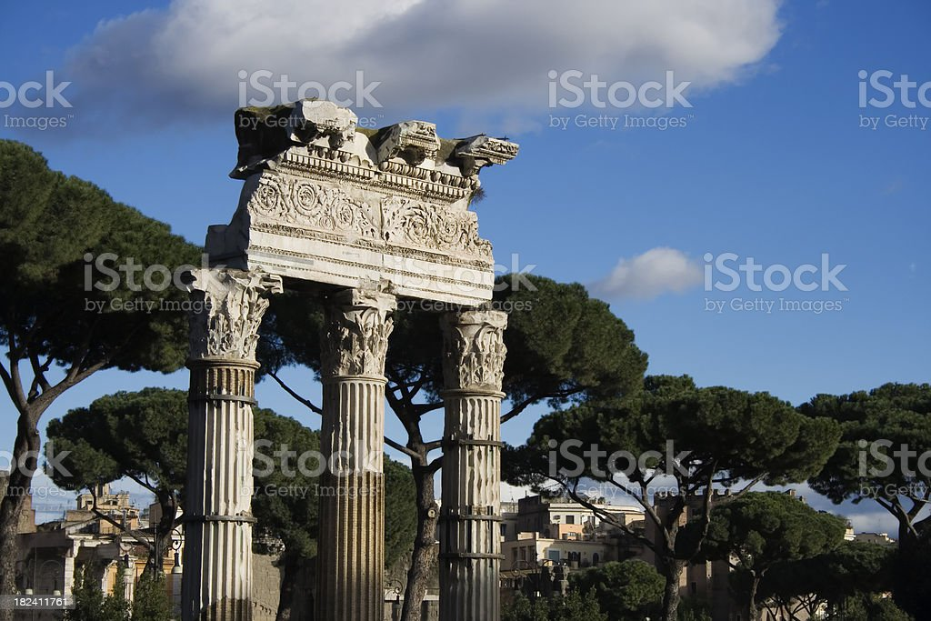 Columns in Roma stock photo