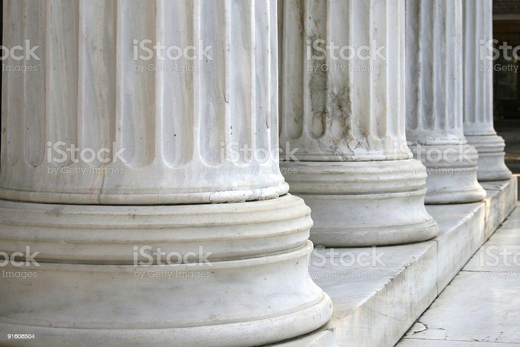 Columns in row (horizontal) stock photo