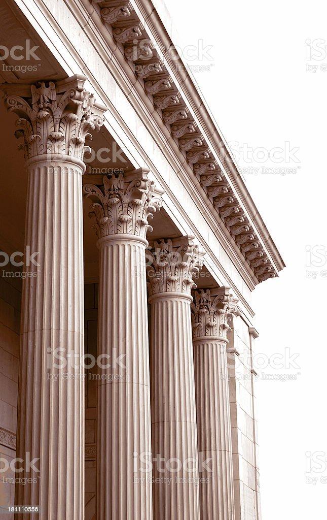 Columns in Sepia stock photo