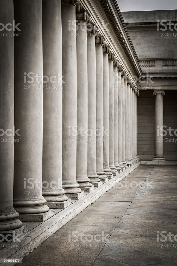 Columns in the courtyard stock photo
