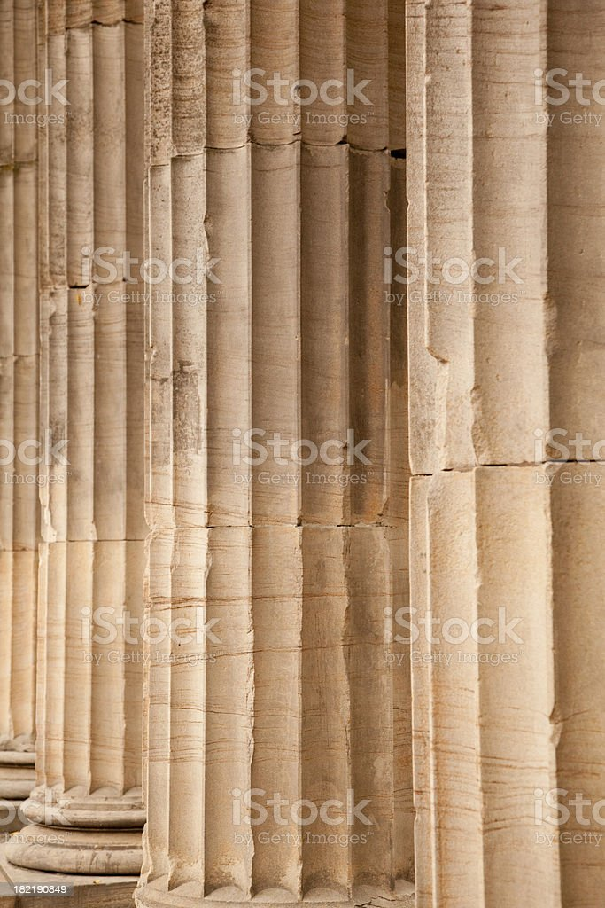 Columns, Ionic, Architecture, Education, Courthouse royalty-free stock photo
