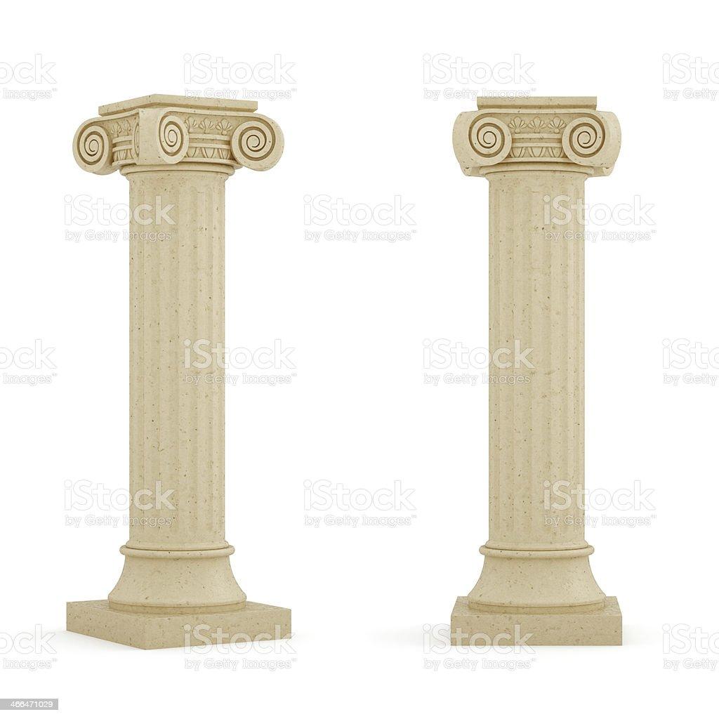 Columns isolated stock photo