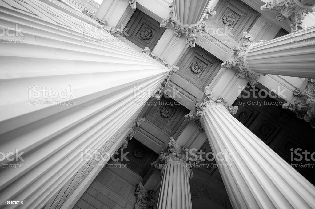 Columns - National Archives stock photo